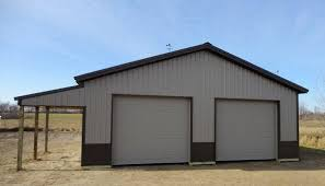 How To Build A Pole Shed Plans by Pole Barn Garage With Lean Lean To Pictures Building Quality