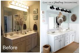 ideas for bathroom decor chic on a shoestring decorating beachy bathroom reveal