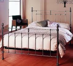 Metal King Size Bed Frame by Ariel Kingsize Bed Frame Traditional Nickel Bedstead