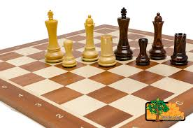 saturn pro 48cm 18 9in wooden weighted beautiful chess set ebay