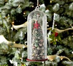 tree in glass cloche ornament pottery barn