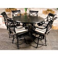 elegant balcony height patio set homecrest patio furniture counter