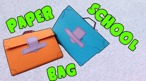 how to make a backpack paper bag bag paper craft hue