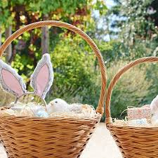 wicker easter baskets get ready to fill these adorable easter baskets project nursery