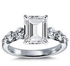 Huge Wedding Rings by Kate Hudson Engagement Ring Emerald Cut Diamonds