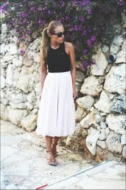 summer skirts how to wear pleated skirts in summer fashiongum