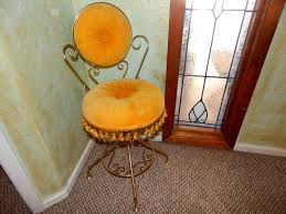 antique swivel vanity chair home vanity decoration