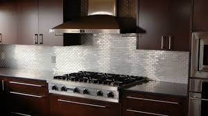 Aluminum Backsplash Kitchen Amusing Silver Color Stainless Steel Kitchen Backsplash Featuring