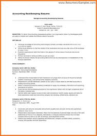 Bookkeeper Duties And Responsibilities Resume Bookkeeper Resume Objective Sample Accounting Resume Objective