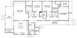 great room floor plans cottage revival coastal living house plans