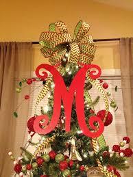 monogram tree topper custom listing for joyce 18 inch christmas tree letter