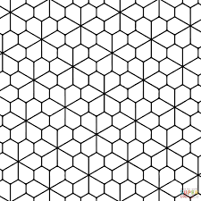 tessellation with floret pentagonal tiling coloring page free