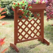 convenience concepts planters and potts fir wood planter box with