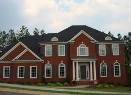exquisite home exterior design with white painted color of bricks