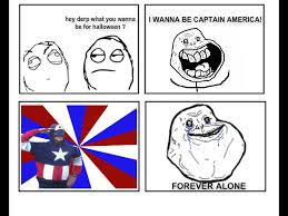 Forever Alone Know Your Meme - halloween captain derp forever alone know your meme