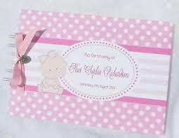 christening photo album personalised christening birthday baby shower guestbook
