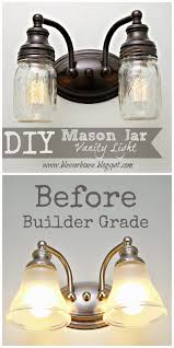 diy mason jar vanity light vanities bathroom mirrors diy and lights
