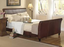 Solid Wood Sleigh Bed Queen Size Wooden Sleigh Beds Queen Size Sleigh Bed For Stylish