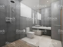 Loft Modern by 3d Rendering Modern Loft Toilet And Shower With Wood Floor Stock