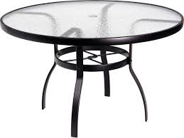 48 inch glass table top woodard deluxe aluminum 48 round acrylic top table with umbrella
