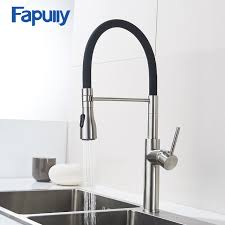 Satin Nickel Kitchen Faucet Fapully Brushed Nickel Kitchen Faucet 100 Solid Brass Single