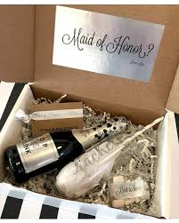 will you be my of honor gift amazing deal on stemless chagne glass bridesmaid gift box sets