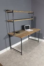Pipe Desk Extra Thick Pipe Reclaimed Wood Desk Industrial Desk by Caroline Reclaimed Scaffolding Boards And Dark Steel Pipe