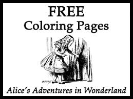 free alice u0027s adventures wonderland coloring pages