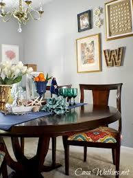 colorful coastal cottage dining room makeover reveal casa