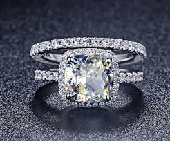 aliexpress buy 2ct brilliant simulate diamond men fabulous 2ct simulate diamond bridal sets genuine 14k