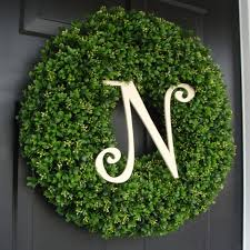 custom artificial boxwood wreath outdoor year round door