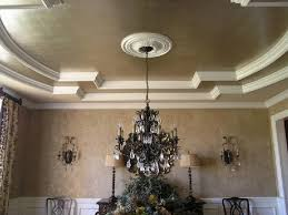 dining room lacquered dark brown walls w gold vine painted on