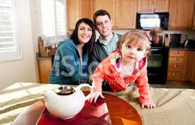 cute family in kitchen stock photos freeimages com