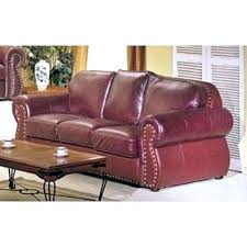 Maroon Leather Sofa Burgundy Leather Sofa Wojcicki Me