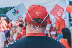 Singapore Flag Button Photos Fun Games And National Spirit At The Canada Day 150 Party