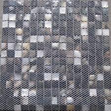 natural black mother of pearl mosaic tiles kitchen backsplash