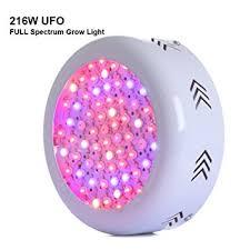 ufo led grow light amazon com gianor 216w ufo led grow light full spectrum grow