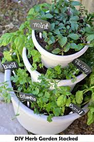 Patio Herb Garden Ideas Diy Herb Garden Stacked Http Www Diyamazingideas Diy Herb