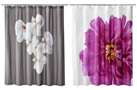 Petal Pink Curtains Curtain Navy Floral Shower Curtain Fashioned Shower Curtains