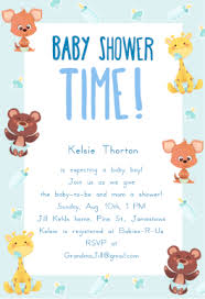 animals free printable baby shower invitation template