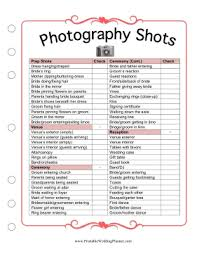 printable wedding planner if you and your photographer don t what pictures you want