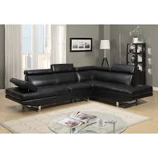Sofa With Reversible Chaise Lounge by Twilight Contemporary 2 Piece Faux Leather Sectional Sofa With