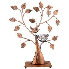 necklace holder stand images Jewelry tree bronze bird nest 48 pair earrings holder bracelets jpg