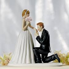 and groom cake toppers on one knee and groom cake topper
