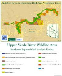 Map Of Mesa Az Upper Verde River State Wildlife Area Iba Arizona Important Bird