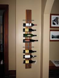 ideas unique floating shelves design with wall mount wine rack