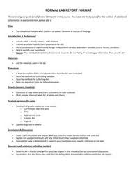 lab report template middle school lab report outline science lab report template school ideas