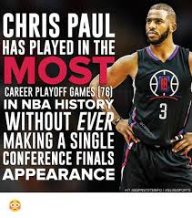 Chris Paul Memes - chris paul has played in the career playoff games 76 in nba history