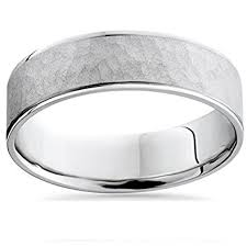 mens hammered wedding bands mens white gold hammered comfort fit wedding band ring