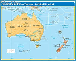 map of aus new zealand map australia travelsfinders